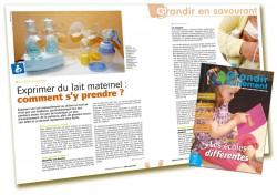 Exprimer du lait maternel - Grandir Autrement n°6