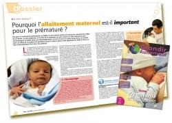 Dossier Prématurité et allaitement : Pourquoi l'allaitement maternel est important - Martine Vergnol - Grandir Autrement n°4