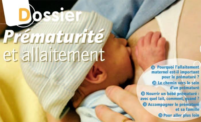 Article allaitement - Dossier Prématurité et allaitement : Introduction - Martine Vergnol - Grandir Autrement n°4