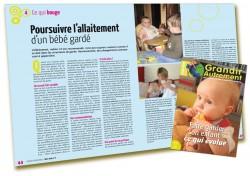 Faire garder son enfant - Poursuivre l'allaitement d'un bébé gardé
