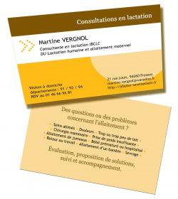 Carte de visite de Martine Vergnol, consultante en lactation IBCLC